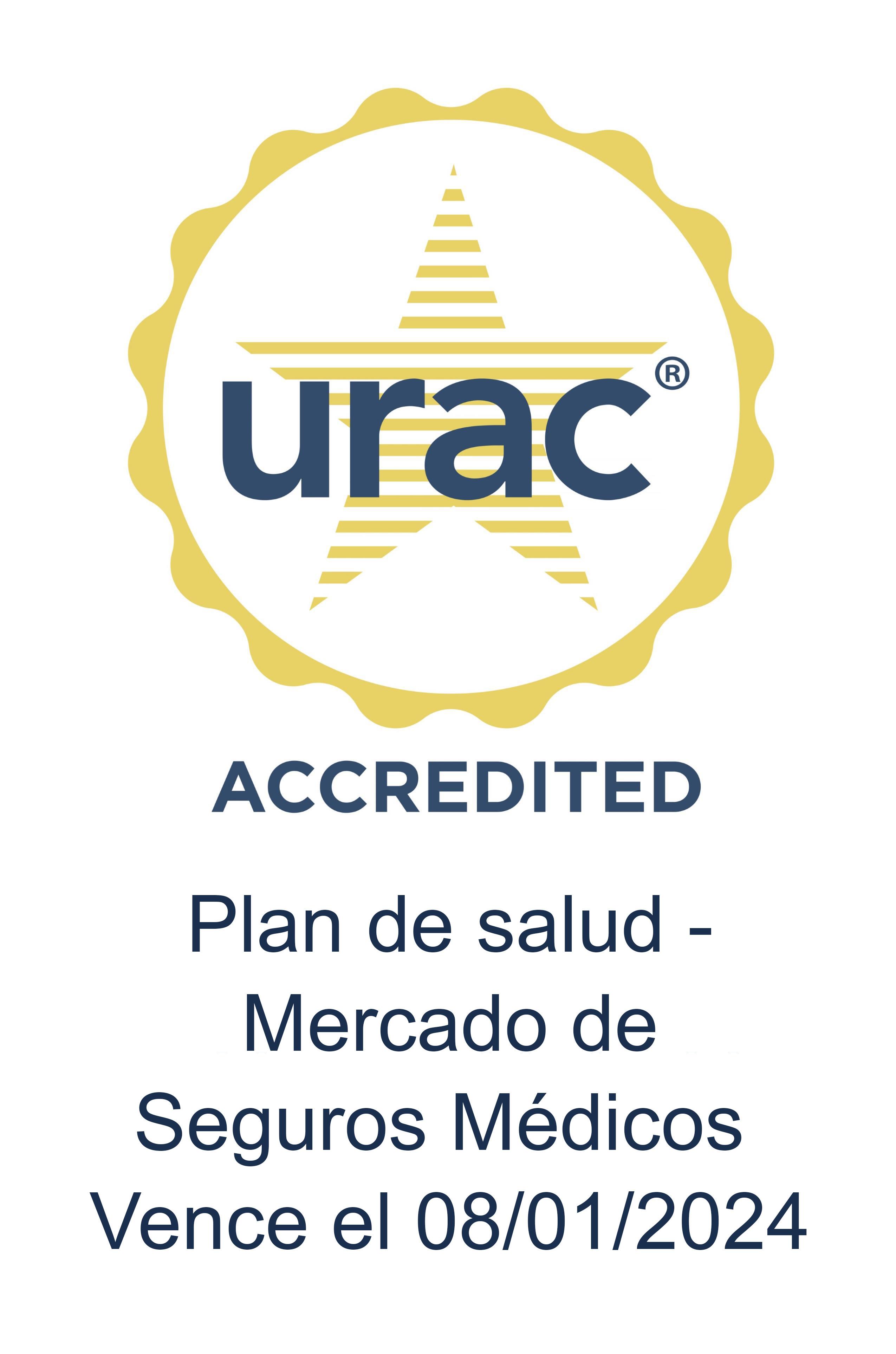logotipo de urac accredited
